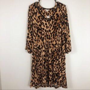 NWT Long Sleeve Cheetah Print Dress Size 18/20